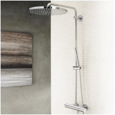 Dušo sistema su termostatu Rainshower Jumbo 400mm su Sena rankiniu dušeliu, chromas 2