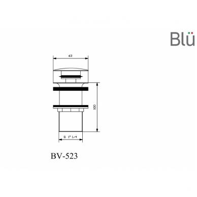 Ilgas dugno vožtuvas Blu 6