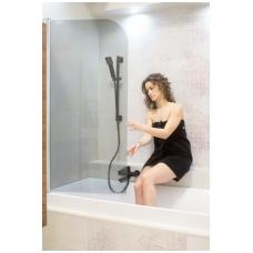 Juodas maišytuvas voniai komplekte su stovu OMNIRES DARLING