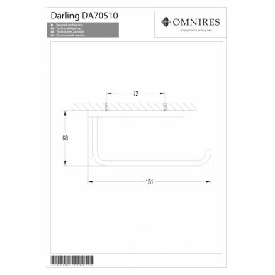 Juodos spalvos tualetinio popieriaus laikiklis OMNIRES DARLING 2