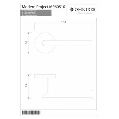 Juodos spalvos tualetinio popieriaus laikiklis OMNIRES MODERN PROJECT 2
