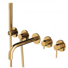 Komplektas dušui ir voniai Y, potinkinis, aukso spalvos, Omnires