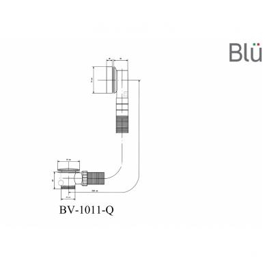 Kvadratinis sifonas voniai Blu 5