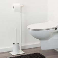 Laikiklis - stovas WC popieriui ir šepečiui BRIX, baltas, Sealskin