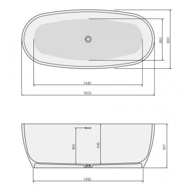 Laisvai statoma Solid Surface vonia DP Poolspa 180 6