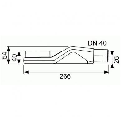 Latakas su įklijuojama plytele Tece Plate Drainline 6