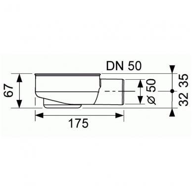 Latakas su įklijuojama plytele Tece Plate Drainline 7