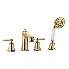 Maišytuvas montuojamas į vonios kraštą ARMANCE , aukso spalvos, Omnires