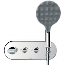 Maišytuvas dušui APICE Ø140, potinkinis termostatinis, įvairių spalvų, Bossini