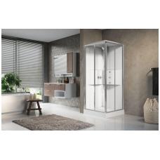 Masažinė dušo kabina Novellini Media 2.0, kvadratinė