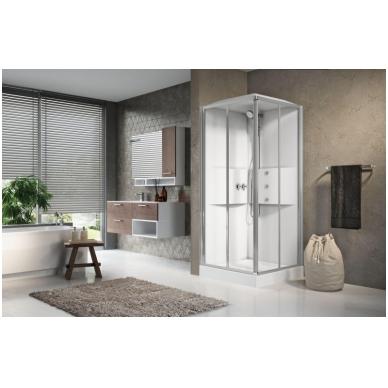 Masažinė dušo kabina Novellini Media 2.0, kvadratinė 2