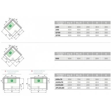 Masažinė dušo kabina Novellini Media 2.0, kvadratinė 3