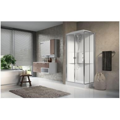 Masažinė dušo kabina Novellini Media 2.0, stačiakampė 2