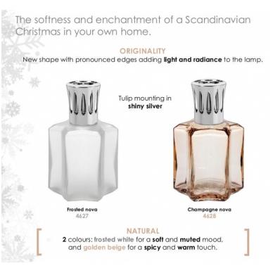 Namų kvapų komplektas - kvapų lempa White Satin Christmas (Cinnamon and Orange) LampeBerger 2