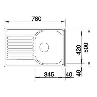 Nerūdijančio plieno plautuvė Blanco Tipo 45 S Compact 2