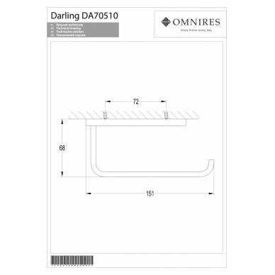 Nikelio spalvos tualetinio popieriaus laikiklis OMNIRES DARLING 2