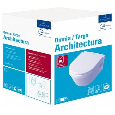 Omnia Architectura pakabinamas unitazas su Soft-Close dangčiu Villeroy & Boch