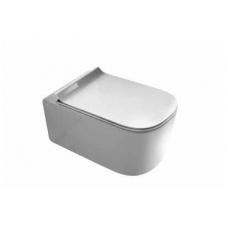 Pakabinamas WC Meg11 su dangčiu soft close extra slim, Galassia