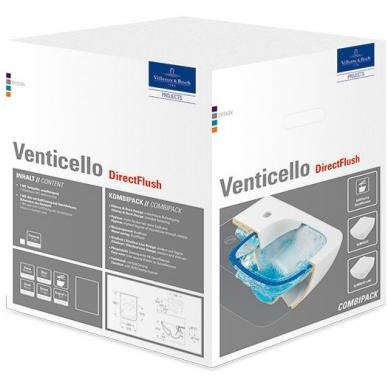 Pakabinamas unitazas Villeroy & Boch Venticello DirectFlush su Soft Close dangčiu