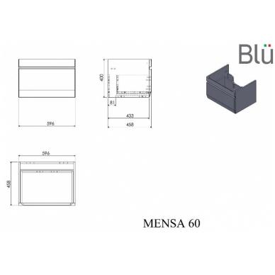 Pakabinamas vonios spintelė su praustuvu Blu MENSA 10