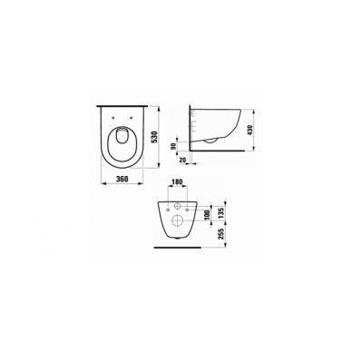 Pakabinamo WC Laufen Pro New ir Grohe 5in1 Skate Cosmopolitan rėmo komplektas 4