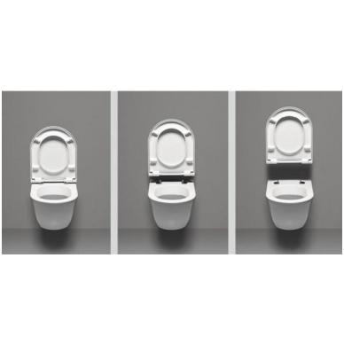 Komplektas unitazo PURA Rimless, pakabinamas, GSI ir rėmo Grohe 5in1 Skate Cosmopolitan 9