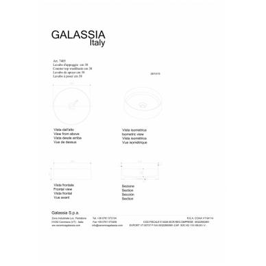Pastatomas praustuvas SmartB 38 juodas, Galassia 5