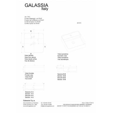 Pastatomas praustuvas SmartB 45, Galassia 4