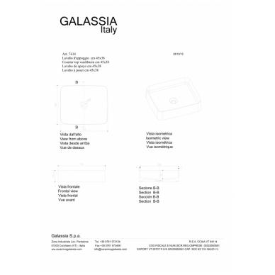 Pastatomas praustuvas SmartB 45, Galassia 3