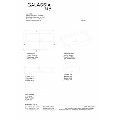 Pastatomas praustuvas SmartB 65, Galassia 3