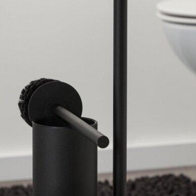 Laikiklis - stovas WC popieriui ir šepečiui BRIX, juodas, Sealskin 3