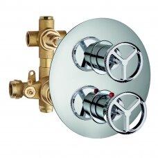 Potinkinis 2-jų eigų maišytuvas dušui INDUSTRIAL JOB, termostatinis, Palazzani