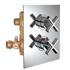 Potinkinis 2-jų eigų termostatinis maišytuvas dušui FORMULA MULTI, Palazzani