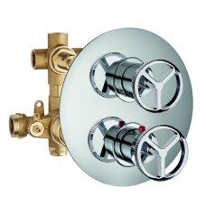 Potinkinis 3-jų eigų maišytuvas dušui INDUSTRIAL JOB, termostatinis, Palazzani