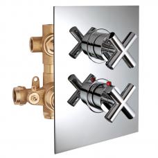 Potinkinis 3-jų eigų termostatinis maišytuvas dušui FORMULA MULTI, Palazzani