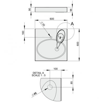 Praustuvas statomas ant skalbyklės PAA, Claro 3