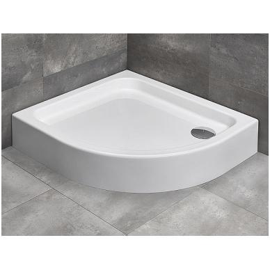 Pusapvalis dušo padėklas Radaway Siros E Compact