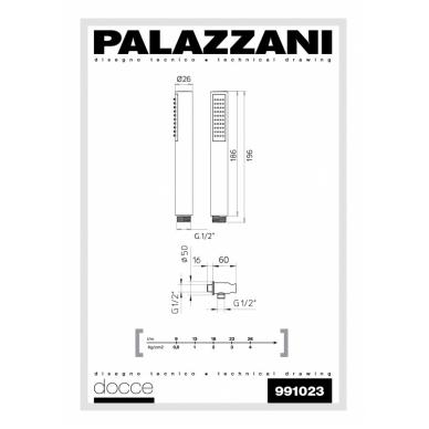Rankinis dušiukas su laikikliu ir vandens padavimu Digit 3 Idrotech 2 Formula Multi, Palazzani 2