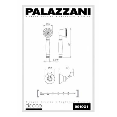 Rankinis dušiukas su laikikliu Retro, Palazzani 2