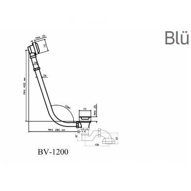 Retro sifonas voniai su grandinėle 108° Blu 5