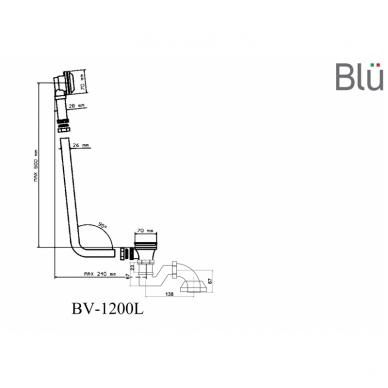 Retro sifonas voniai su grandinėle 95° Blu 5