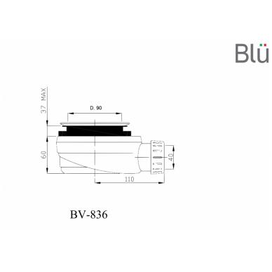 Sifonas Blu dušo padėklui RILIEVO/ALBERO 2