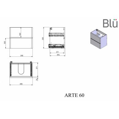 Spintelė su praustuvu Blu ARTE 3