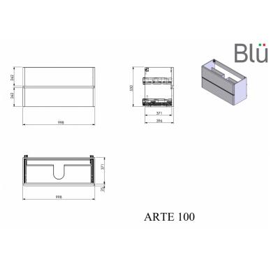 Spintelė su praustuvu Blu ARTE 4