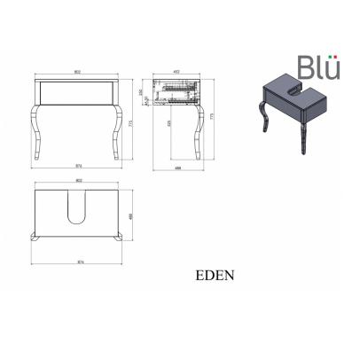 Spintelė su praustuvu Blu EDEN 876 5