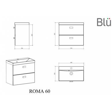Spintelė su praustuvu Blu ROMA 4