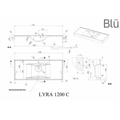 Spintelė su praustuvu Blu VARIA 1200 4