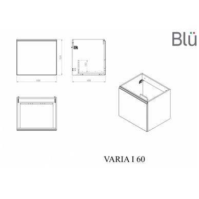Spintelė su praustuvu Blu VARIA I 8