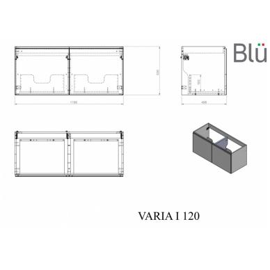 Spintelė su praustuvu Blu VARIA I 9