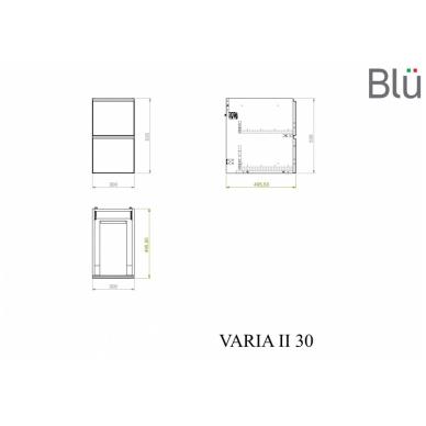 Spintelė su praustuvu Blu VARIA II 8